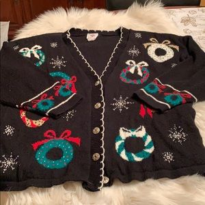 Nutcracker Vintage Holiday Cardigan within EUC